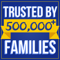 Trusted by 500,000+ families!
