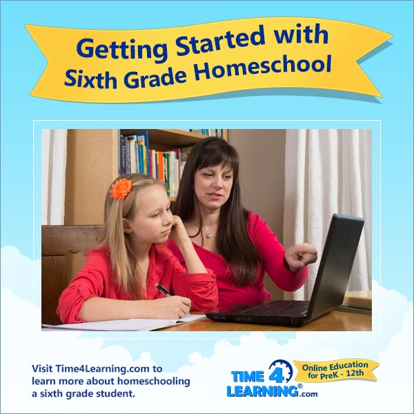 Getting Started with 6th Grade Homeschool