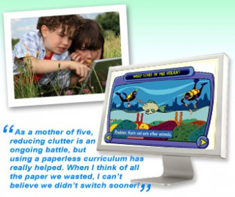 Choose A Paperless Curriculum  to Reduce the Clutter