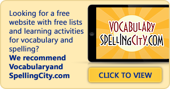 spelling bee words with meaning pdf